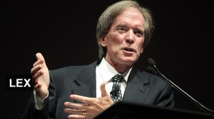 This is Bill Gross. Until 2011 he was a very successful manager with PIMCO, where he headed up their largest fund. Then he made a contrarian prediction about the markets, lost a lot of money and was fired from his fund.