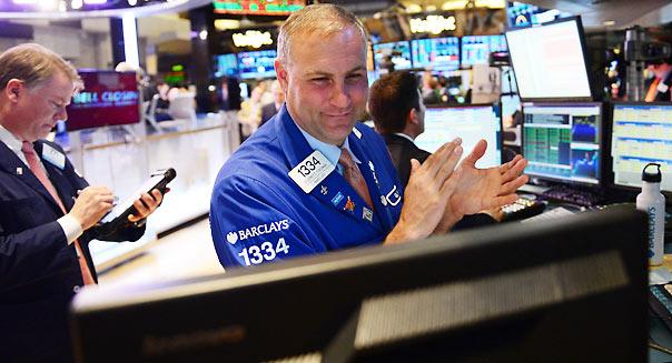 US-STOCKS-DOW JONES-RECORD