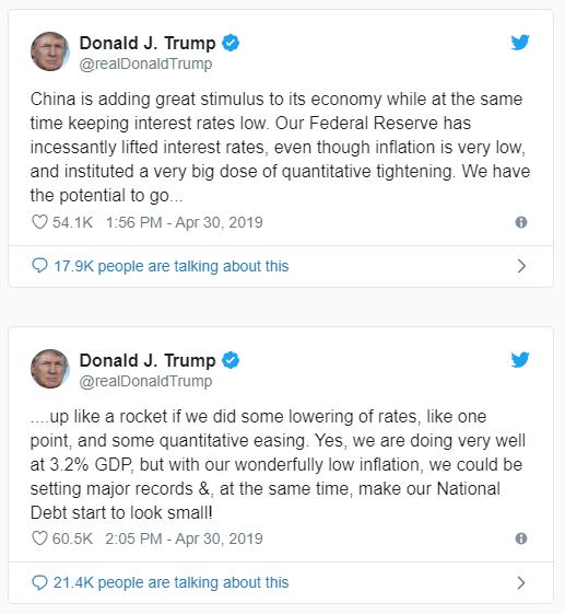 Trump Tweets April 30